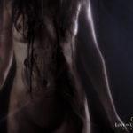 Nude behind plastic sheet